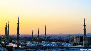 madinah during sunset wallpaper