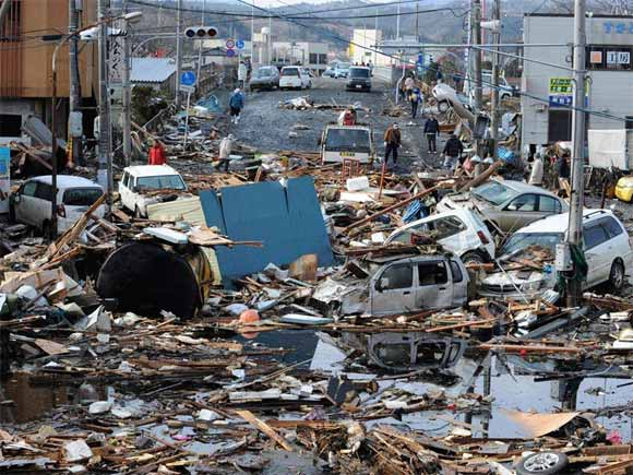 massive damage in japan